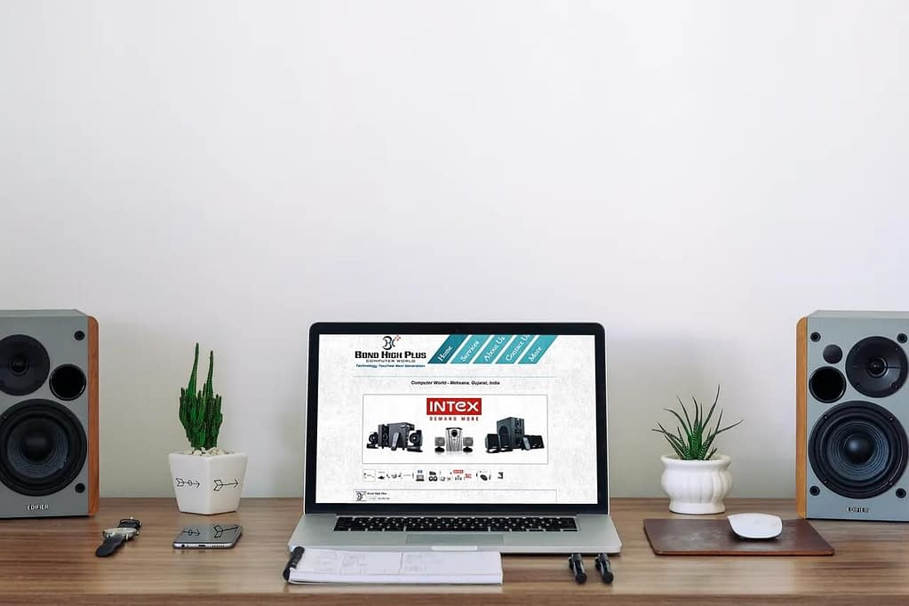 website design for Bond High Plus