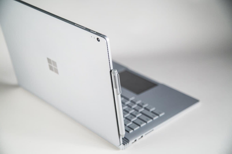 Microsoft Surface Book back
