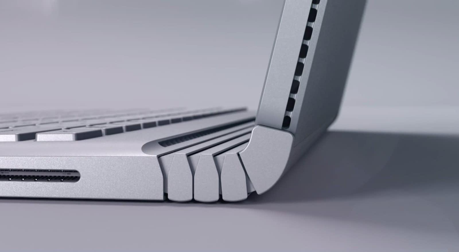 Microsoft surface book side