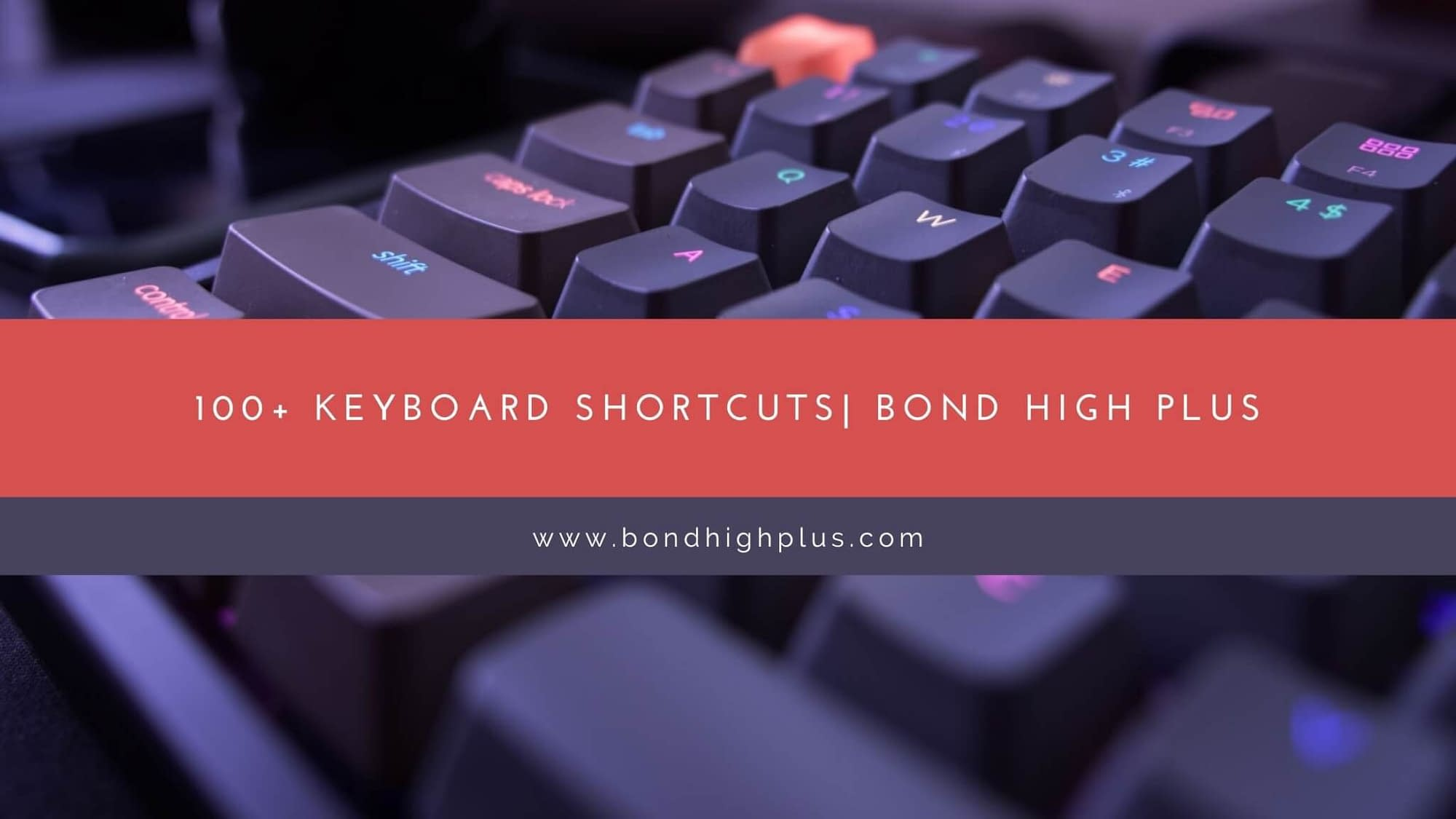 100+ Keyboard Shortcuts