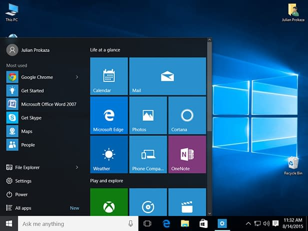 Windows 10 Start Menu Magnify