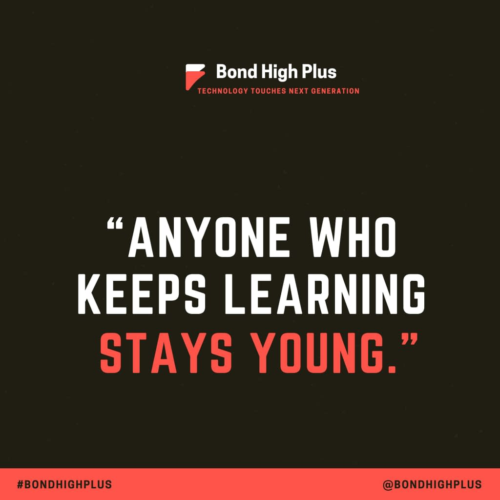 """""""Anyone who keeps learning stays young."""" - Henry Ford"""