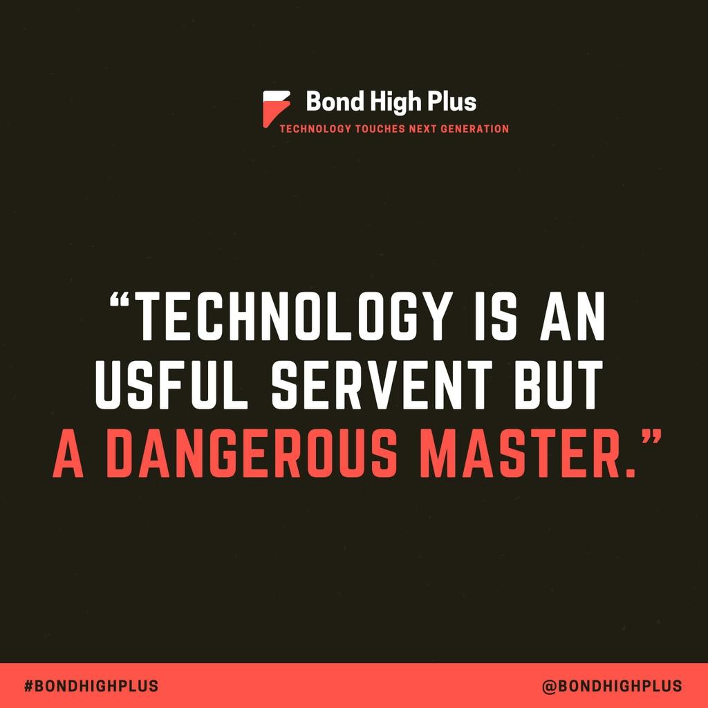 """Technology is a useful servant but a dangerous master."" - Christian Lous Lange"