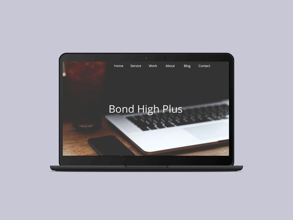 Bond High Plus Website